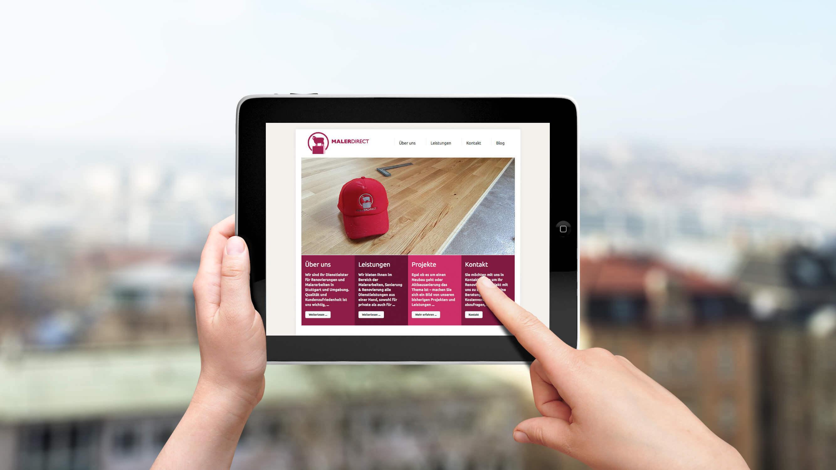 Corporate Website für Malerdirect